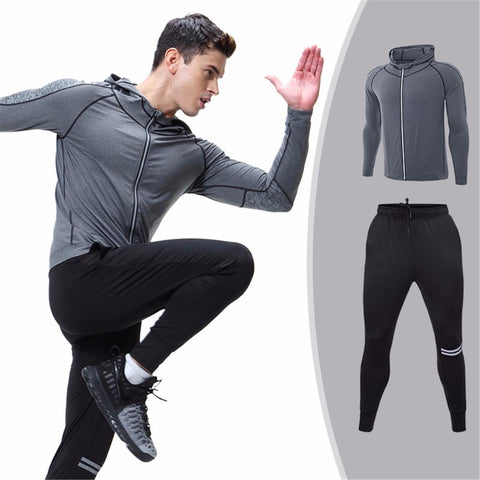Zip-Up Pullover + Training Pants Duo  |  TRU180 Fitness