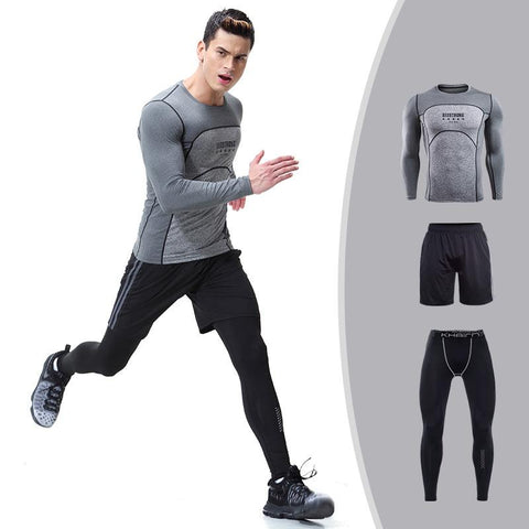 Men's Long Sleeve Top + Shorts + Pants  |  TRU180 Fitness