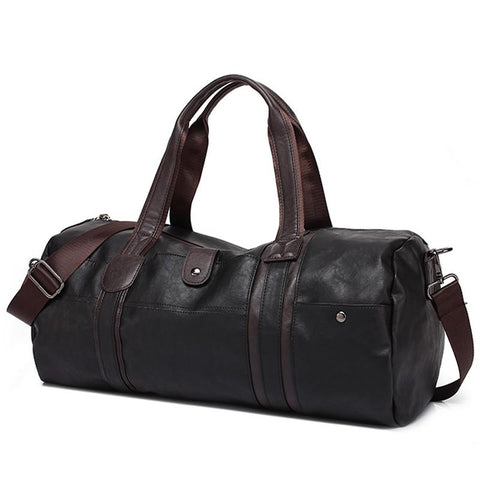 Hot Men's Large Capacity PU Leather Sports Bag