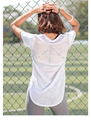 Sexy Lace Back Top Shirt  |  TRU180 Fitness