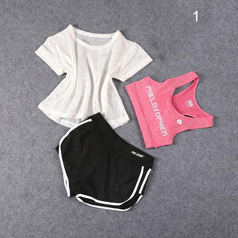 WOMEN'S YOGA 3 PCS SET SPORTSWEAR  |  TRU180 Fitness