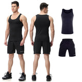 Men's Compression Sleeveless Tank + Shorts  |  TRU180 Fitness