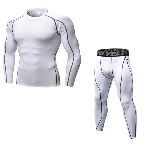 2 Tone Compression Top + Pants Combo  |  TRU180 Fitness