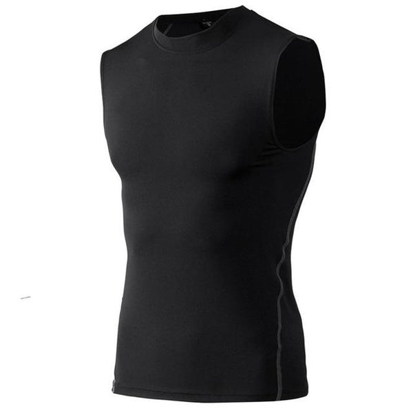 Men Body Compression Base Layer Sleeveless Thermal Vest  |  TRU180 Fitness