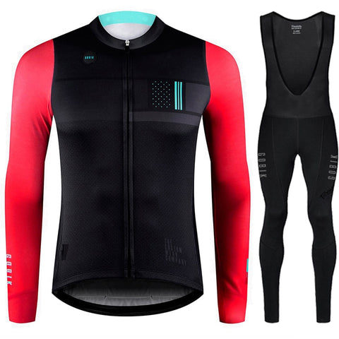Winter Thermal Fleece Cycling Set