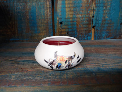Ceramic Painted Candle