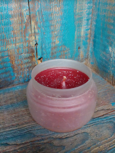Frosted Glass Scented Candle