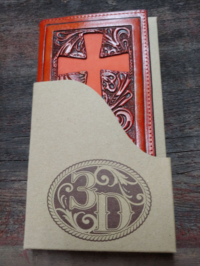 Tooled Men's Leather Cross Wallet