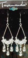 Crystal & Silver Chandelier Earrings