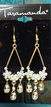 Crystal & Gold Chandelier Earrings