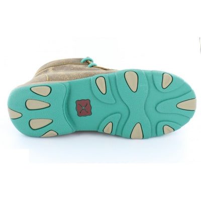 Twisted X Women's Driving Moccasin Bomber/Turquoise - RM Tack & Apparel
