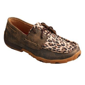 Twisted X Womens Leopard Boat Shoe - RM Tack & Apparel