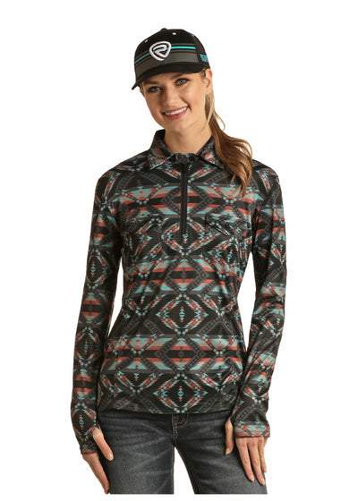 Rock & Roll Cowgirl Women's 1/4 Zip Performance Top