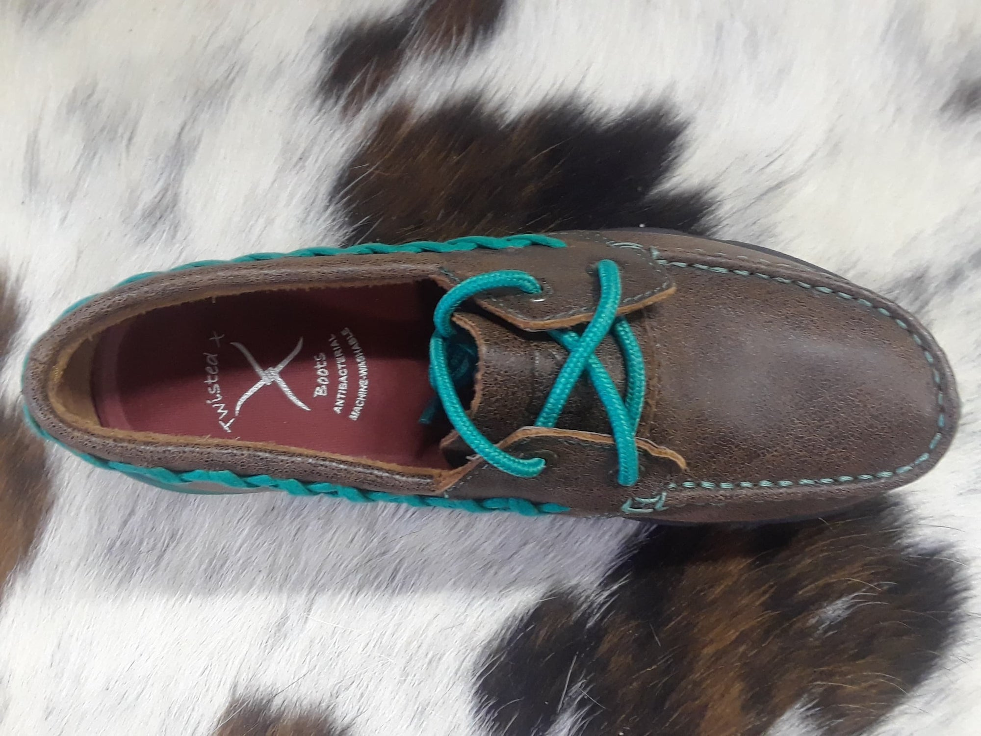 a941e2245314 RM Tack Exclusive Turquoise Driving Moc - RM Tack & Apparel