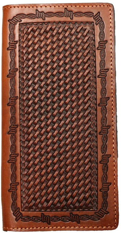 Ranger Belt Company Brown & Black Basket-Weave Wallet