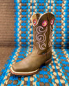 Quality Leather Women's Western Boots w/Pink Accents - RM Tack & Apparel