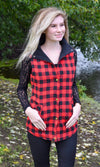 Red Buffalo Plaid Vest - RM Tack & Apparel