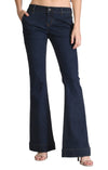 "Grace in LA Women's Mid-rise Dark Wash Flare Jean - 34"" Inseam - RM Tack & Apparel"