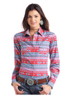 Rock & Roll Cowgirl Women's Southwestern Long Sleeve Top - RM Tack & Apparel