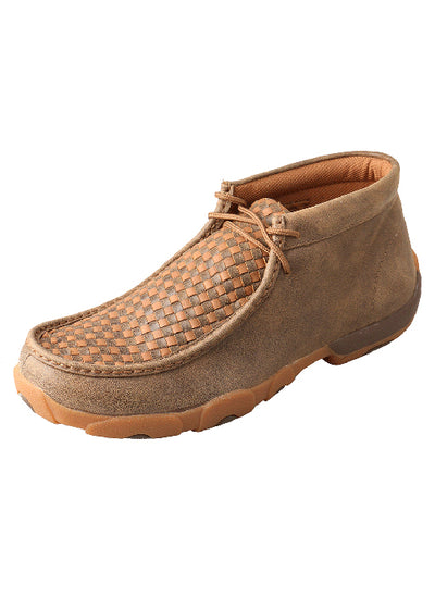 Twisted X Men's Bomber & Tan Weave Tall Driving Mocs Shoe - RM Tack & Apparel