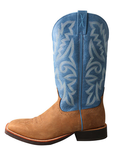 Twisted X Men's Tan/Sky Blue Ruff Stock Boot - RM Tack & Apparel