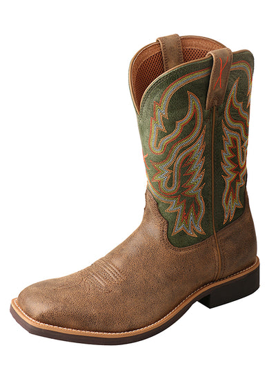 Twisted X Men's Bomber/Moss Top Hand Boot - RM Tack & Apparel