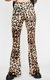 Wile Leopard Bell Bottom Pants