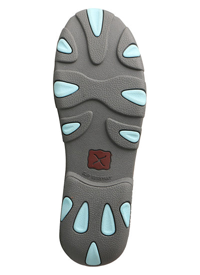 Twisted X Women's Grey/Light Blue Driving Moc - RM Tack & Apparel