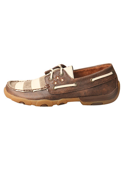 Twisted X Women's Ivory & Brown Driving Moc - RM Tack & Apparel