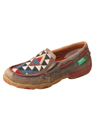 Twisted X Women's Dust/Multi ECO TWX Slip-On Driving Moccasins - RM Tack & Apparel