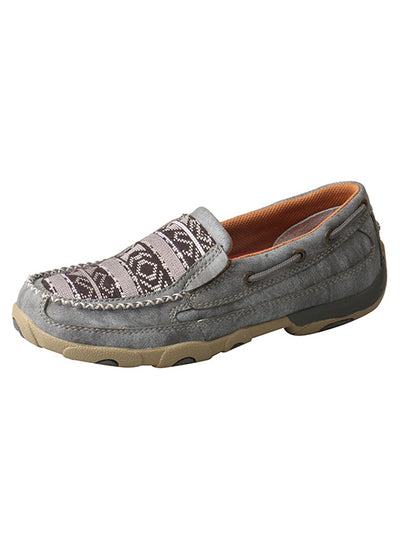 Twisted X Women's Slip-on ECO Grey Driving Mocs - RM Tack & Apparel