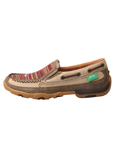 Twisted X Women's ECO TWX Slip-On Driving Moccasins – Khaki/Multi - RM Tack & Apparel