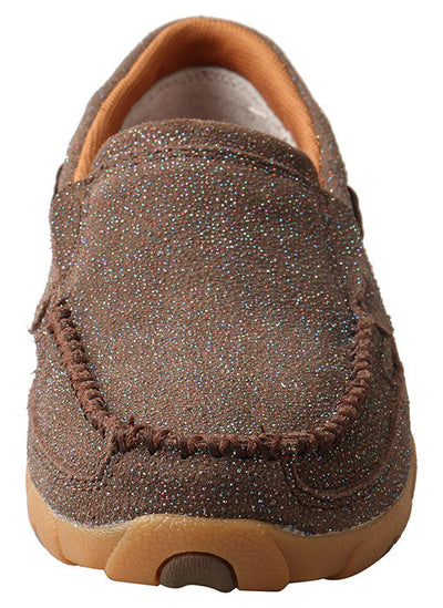 Twisted X Women's Chocolate Shimmer Driving Moc - RM Tack & Apparel