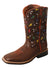 SALE! Twisted X Kid's Top Hand Boot – Brown/Arrow Cactus