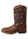 SALE! Twisted X Kid's Top Hand Boot – Brown/Arrow Cactus - RM Tack & Apparel