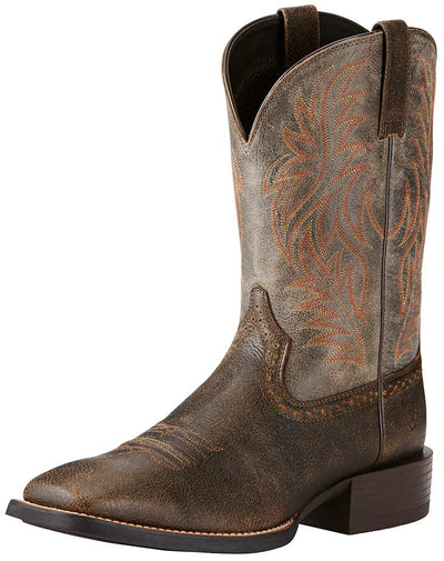 Ariat Men's Brooklyn Brown Sport Wide Square Toe Boot - RM Tack & Apparel
