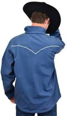Cowboy Hardware Men's Poly-Shell Heather Navy Jacket