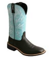 "Women's Twisted X 11""  Baby Blue/Black Top Hand Boot"