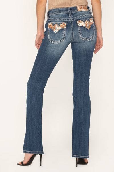 Miss Me Women's Western Haven Bootcut Jeans