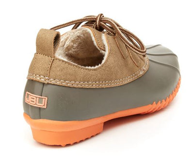JMU by Jambu Women's Glenda Duck Shoes - Taupe & Coral