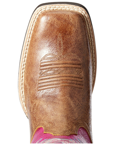 ARIAT Women's Westbound Dark Tan/Cerise Boot