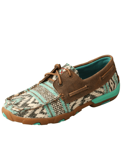 Twisted X Women's Multi Teal Driving Moc - RM Tack & Apparel