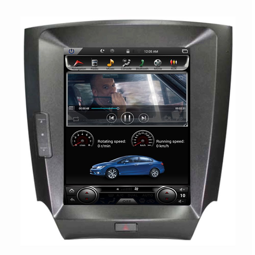 "Tesla Style Lexus IS250 IS300 IS350 2006-2011 10.4"" Vertical Screen Android Radio - Rhino Radios"