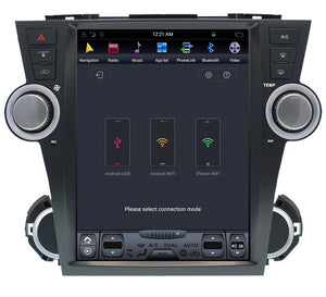 "[Open Box] Toyota Highlander 2007 - 2013  12.1"" Vertical Screen Android Radio Tesla Style"