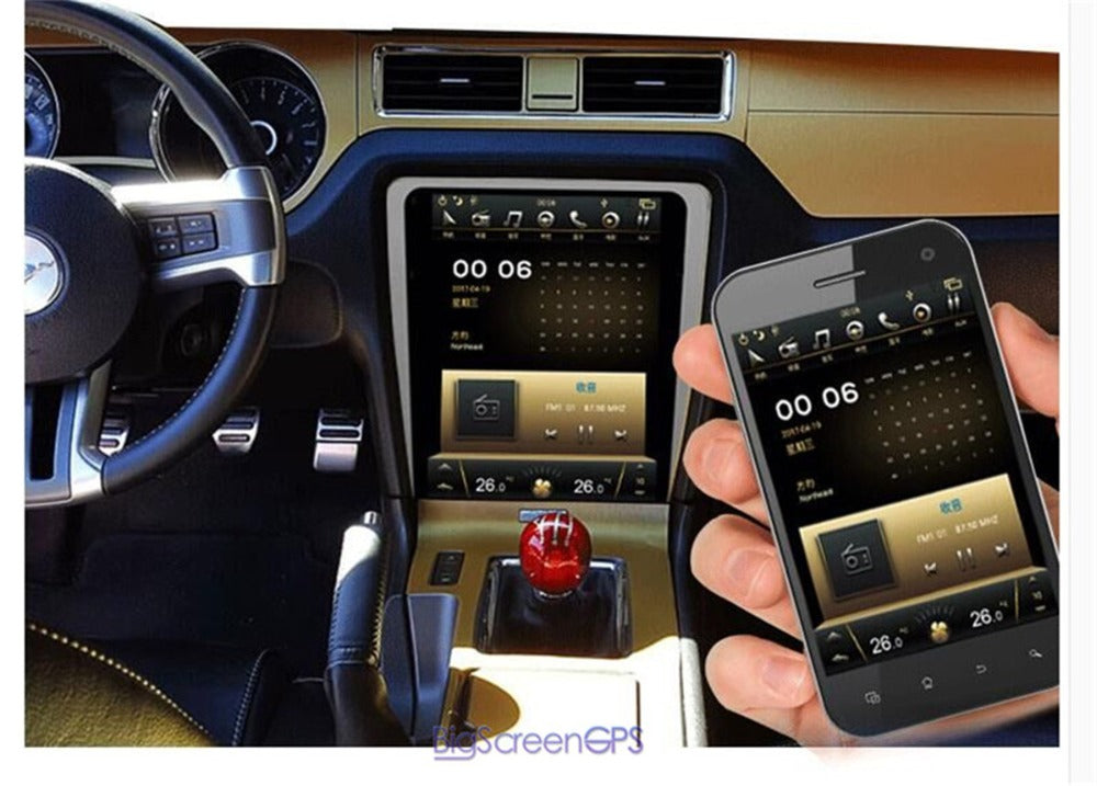 Ford Mustang 2010 2014 12 1 Quot Vertical Screen Android