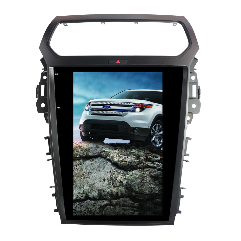 "Tesla Style Ford Explorer 2011 - 2018 12.1"" Vertical Screen Android Radio - Rhino Radios"