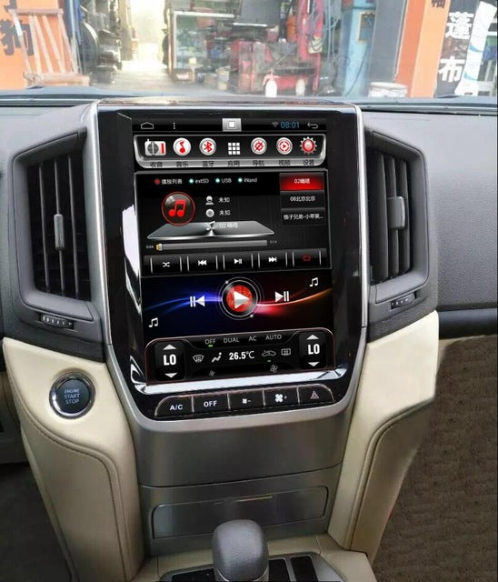 "Tesla Style Toyota Land Cruiser 2016 - 2018 12.1"" Vertical Screen Android Radio - Rhino Radios"