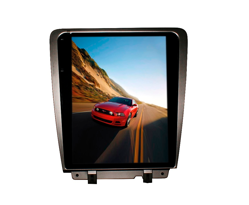 "Tesla Style Ford Mustang 2010 - 2013 12.1"" Vertical Screen Android Radio - Rhino Radios"