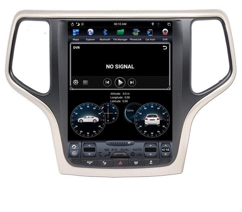 "Jeep Grand Cherokee 2014-2019 10.4"" Vertical Screen Android Radio Tesla Style"