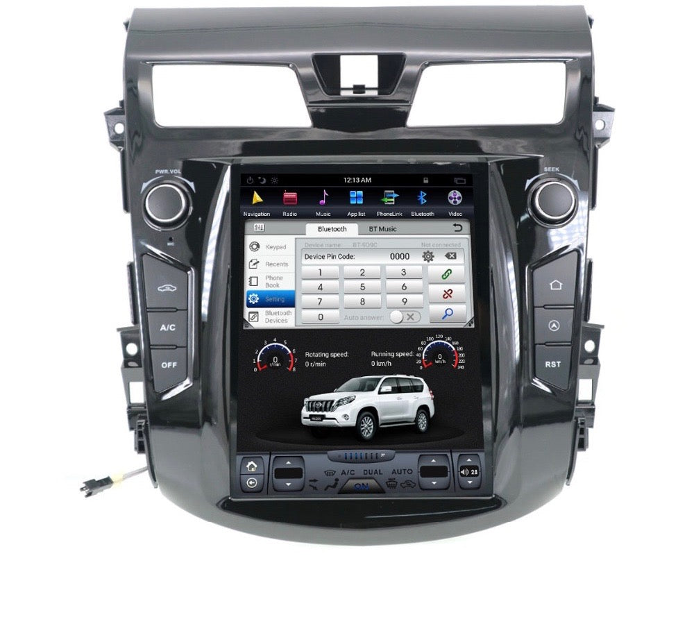 "[Open Box] Nissan Altima 2013 - 2018 10.4"" Vertical Screen Android Radio Tesla Style"